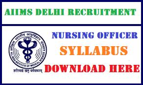 paper pattern of aiims delhi aiims nursing officer syllabus pdf download staff nurse exam