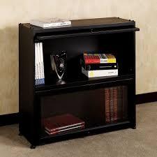 black bookcase with glass doors fleshroxon decoration