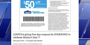 this popular lowe u0027s mother u0027s day coupon is a scam