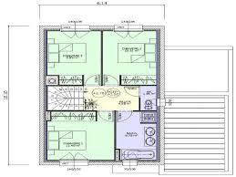 plan maison etage 3 chambres plan maison deux etages a brillant plan maison etage 3 chambres