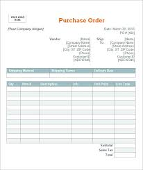 Free Purchase Order Template Excel Purchase Order Template 10 Free Documents In Pdf