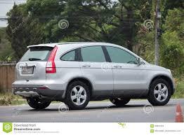 van honda privé auto de auto van de stadssuv van honda crv redactionele