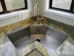 corner kitchen sink cabinet corner single bowl custom stainless steel workstation