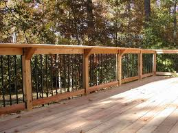 Ideas For Deck Handrail Designs Rail With Deckorator Pickets Complimented By Our Signature Shelf
