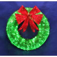 outdoor christmas garland with lights cordless wreath with lights extravagant impressive idea led lighted