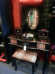 vanities animal print vanity stool sleek gold buttons animal