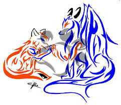 tribal fox and by hitoshihalfbreed on deviantart