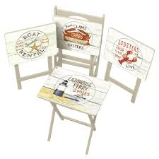 tv tray tables amazon amazon com cape craftsman tv tray set with stand nautical set of