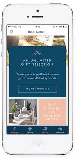 wedding registry app the wedding shop launches the uk s gift registry app