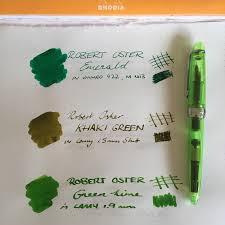 Little Green Notebook Blog by Green As Grass Robert Oster Green Inks Review U2013 Nib U0026 Muck