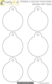 design your own bauble gift tags with this free template