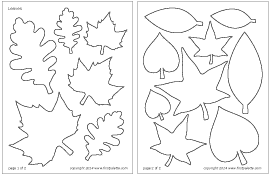 leaves printable templates coloring pages firstpalette