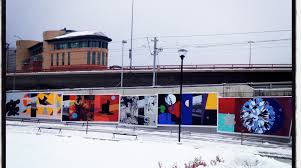 more street art about town the day i took this photo it was clearly cold and dreary but looking at this mural not only sparked a flame in me it literally coloured a landscape that