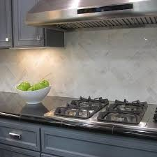 Marble Herringbone Backsplash Design Ideas - Marble backsplashes for kitchens