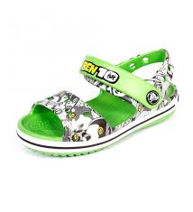 crocs crocband sandal kids ben 10 lime green colour boys