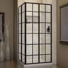 Black Shower Door Black Bar Shower Doors Showers The Home Depot
