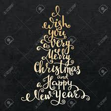 merry christmas modern merry christmas happy new year lettering modern calligraphy gold