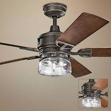Outdoor Ceiling Fan And Light 60 Kichler Lyndon Patio Olde Bronze Outdoor Ceiling Fan 1h530
