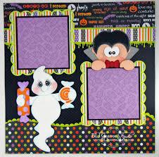 blj graves studio little ghoulies halloween scrapbook pages