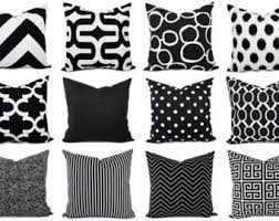 black patterned cushions decorative pillows etsy