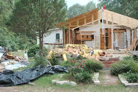 Katrina Cottage Hurricane Katrina House Damage In New Orleans La Stock Photo