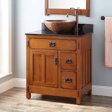 30 american craftsman vessel sink vanity rustic oak bathroom