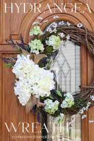 hydrangea wreath summer hydrangea wreath tutorial confessions of a serial do it