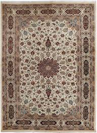Pak Persian Rugs Handmade Pakistani Ivory Persian Kashan Rug 9 U0027 X 12 U0027 4