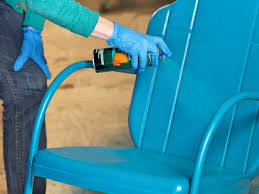 Wooden Furniture Paint How To Paint An Outdoor Metal Chair How Tos Diy