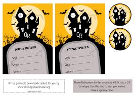 Halloween Invitation Templates Free Printable by Halloween Invite Template