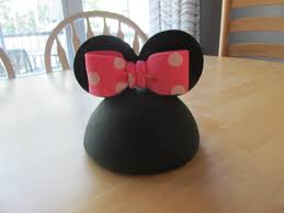 fondant minnie mouse inspired dome head ears u0026 bow by bluehawk1982