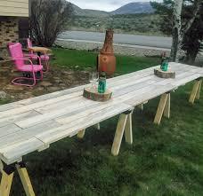 Farmhouse Patio Table by Best 25 Outdoor Harvest Table Ideas On Pinterest Farm Tables