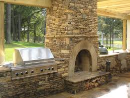 large prefabricated outdoor kitchen islands with high stone