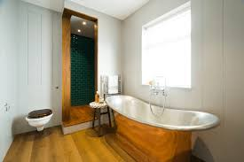 bathrooms modern bathroom with shiny rustic look copper bathtub