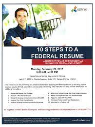 Resume For Federal Job by Workshop 10 Steps To A Federal Resume For Vets The Community