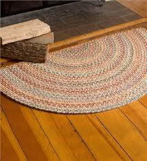 Design Ideas For Half Circle Rugs Blue Ridge Half Wool Braided Rug 2 X 4 Braided Rugs Within