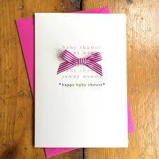 happy baby shower pink ribbon card by arbee notonthehighstreet com