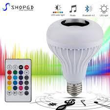bluetooth music light bulb bluetooth led music bulb speaker e27 12w light with remote control