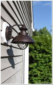 Exterior Light Fixtures Outdoor Light Fixture Makeover Using Metallic Paint Inmyownstyle