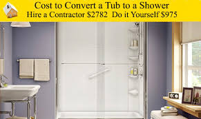 Bath To Shower Cost To Convert A Tub To A Shower Youtube