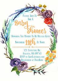 pdf wedding invitations pdf downloadable watercolor floral wreath wedding invitations