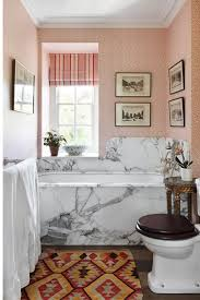 small bathrooms ideas uk marble bath surround pink wallpaper small bathroom ideas
