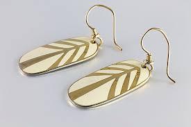 laurel burch earrings laurel burch leaf earrings enamel