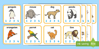 animal syllables card activity animals syllables syllable