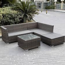 patio sectional sofa 4pc wicker rattan outdoor sectional sofa set