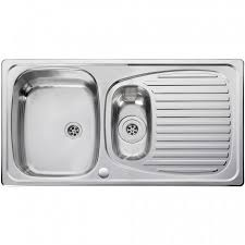 leisure proline pl9852l 1 5 bowl 1th stainless steel inset euroline 1 5 bowl kitchen sink reversible stainless steel el9502