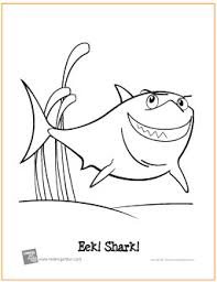 eek shark free printable coloring
