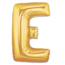 balloon letters letter e gold foil balloon 40 inch inflated balloon shop nyc