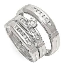 Kmart Wedding Rings by Wedding Rings Wedding Ring Trio Sets Cheap Bridal Sets Jared