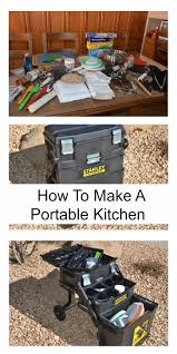 back to basics how to make a portable kitchen camping kitchens